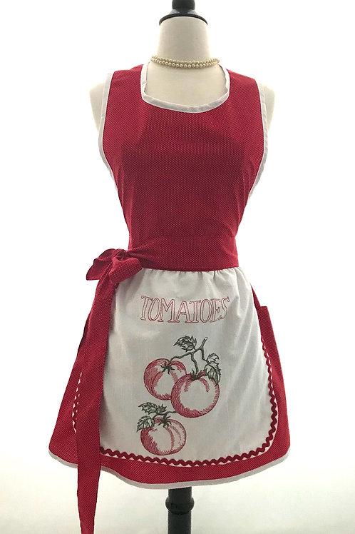 Sweet Tomatoes Dish Towel Retro Apron