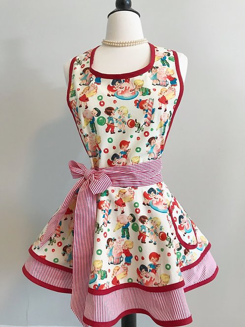 Sweet Treats Double Circle Skirt Retro Apron