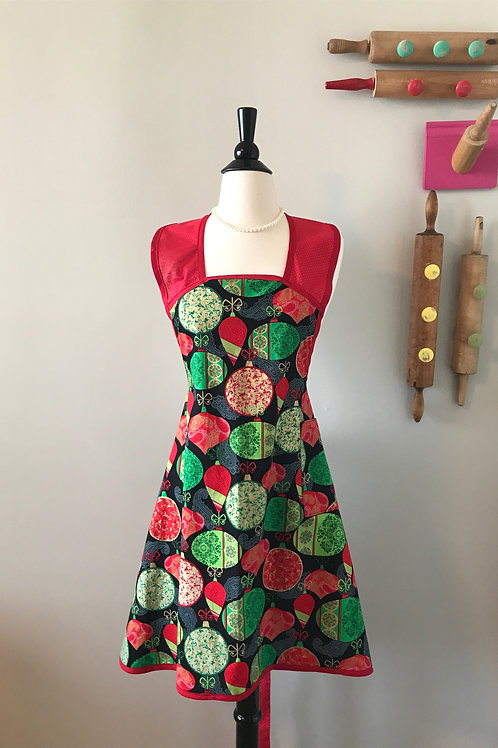 Retro Apron Metallic Ornaments 1940's A-Line