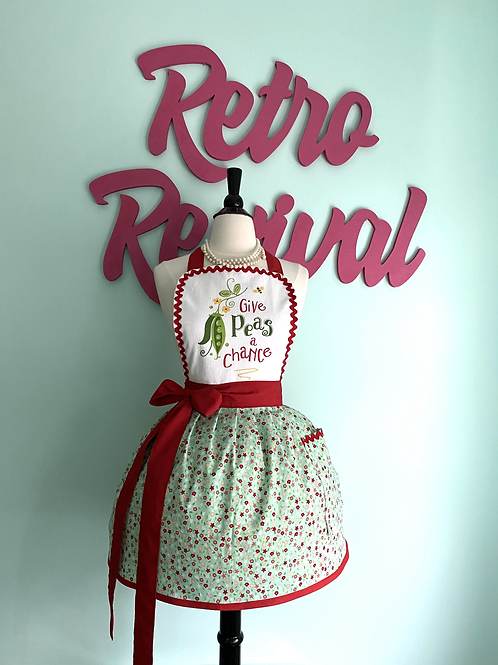 Give Peas a Chance Retro Apron