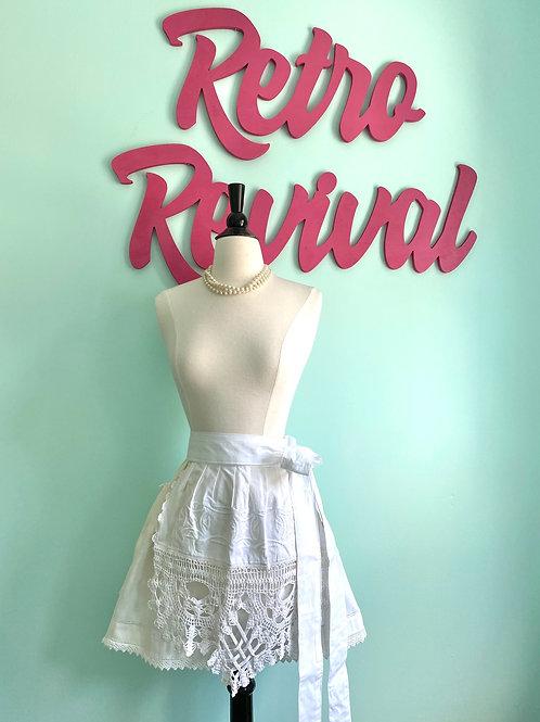 Vintage Bridal #2 Embroidered Lace Retro Half Apron