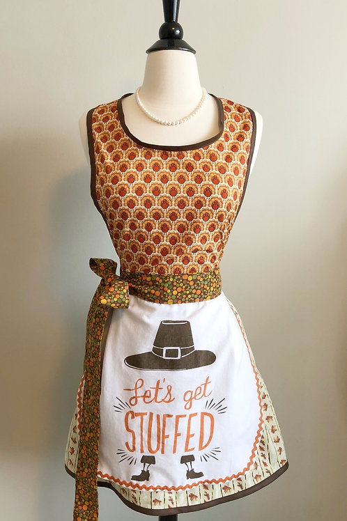 Let's Get Stuffed #2 Dish Towel Retro Apron