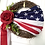 Thumbnail: Patriotic Red Rose 4th of July Americana Wreath