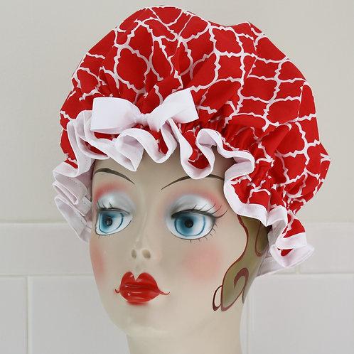 Women's Shower Cap Moroccan Red Shower Cap