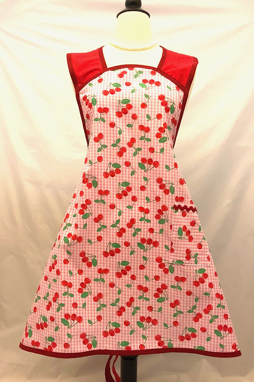 Cheery Cherry A-Line Apron