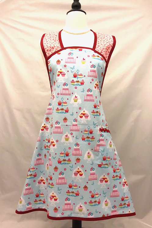 Powder Blue Bake Shop A-Line Apron