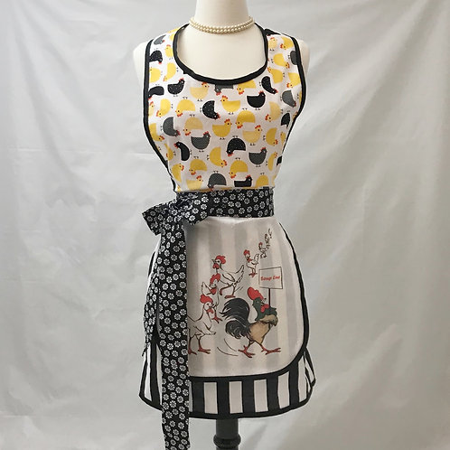 Chicken Soup Dish Towel Retro Apron