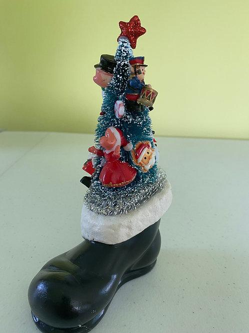 Vintage Santa Boot Christmas Centerpiece #2