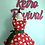 Thumbnail: Smiling Santa Red Retro Circle Skirt Christmas Apron