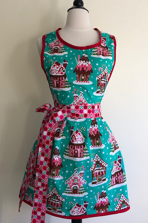 Gingerbread Houses Retro Apron