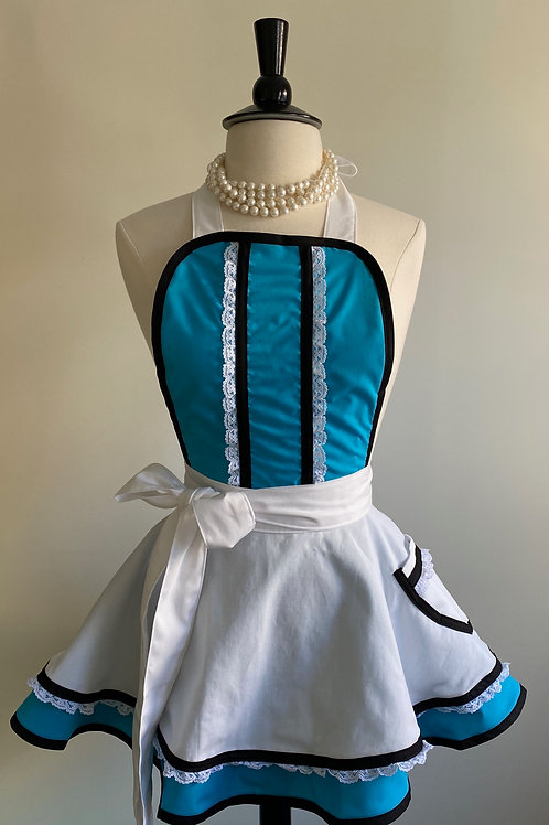 Alice Double Circle Skirt Retro Apron