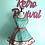 Thumbnail: Red and Aqua Cherry Double Circle Skirt Retro Apron