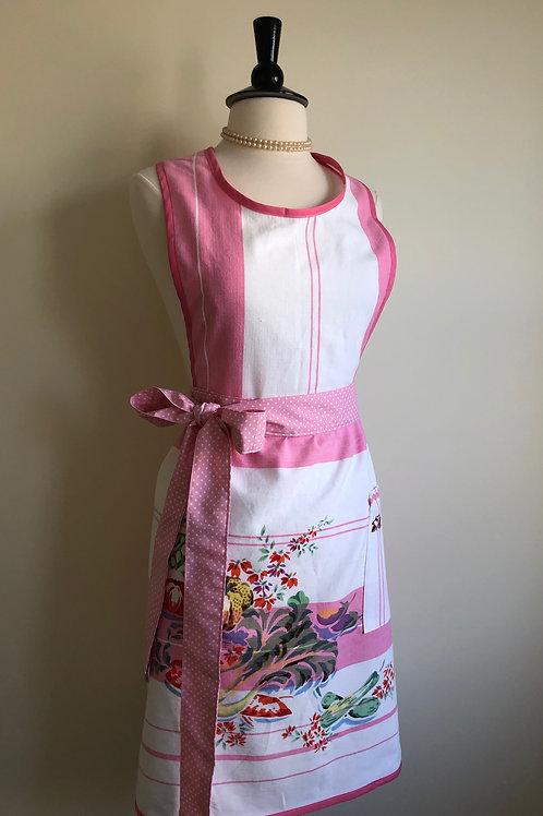 """Bountiful"" Vintage Tablecloth Apron"