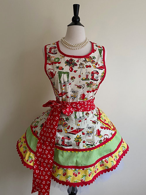 Mrs. Cleaver's Kitchen Triple Circle Skirt Retro Apron