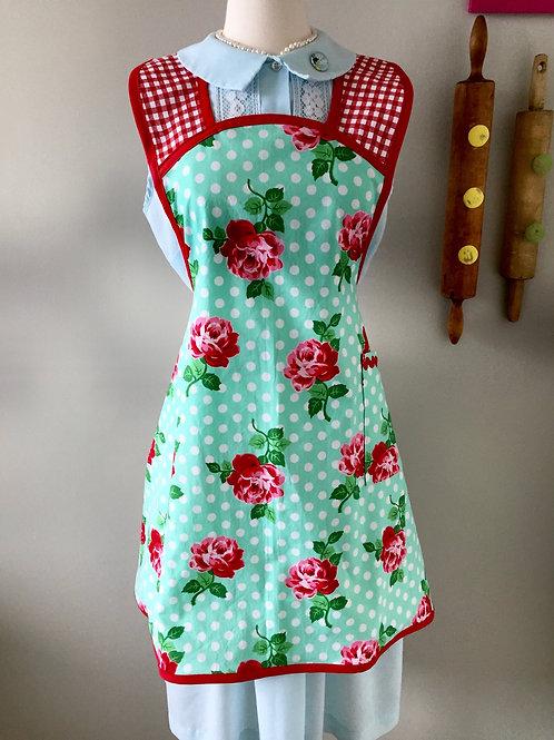 Retro Apron 1940's Style Dottie Rose Apron