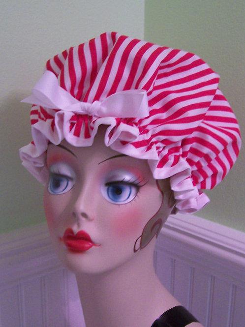 Candy Stripe Shower Cap