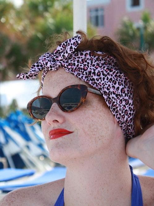 Animal Instinct Pink Waterproof Swim Head Wrap