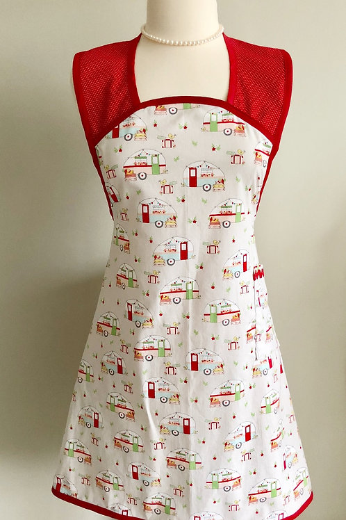 A-Line Vintage Campers Gray Apron