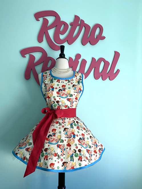 Candy Land Circle Skirt Retro Apron