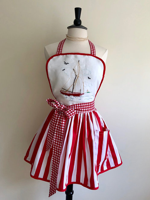 """Becky's Sailboat"" Apron"