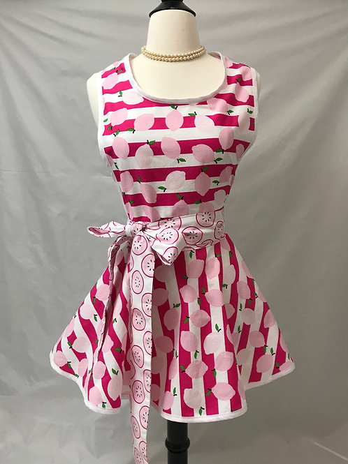 Pink Lemonade Retro Circle Skirt Apron