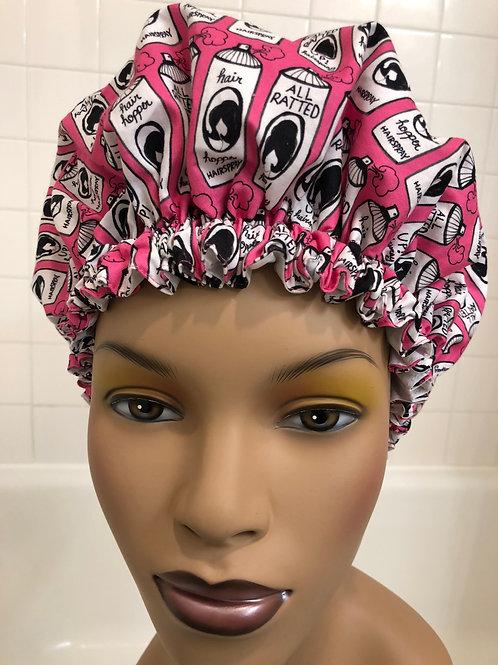 "Women's Modern Milly Shower Cap ""Hairspray Pink"""