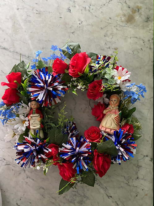 Patriotic James Madison Betsy Ross Wreath