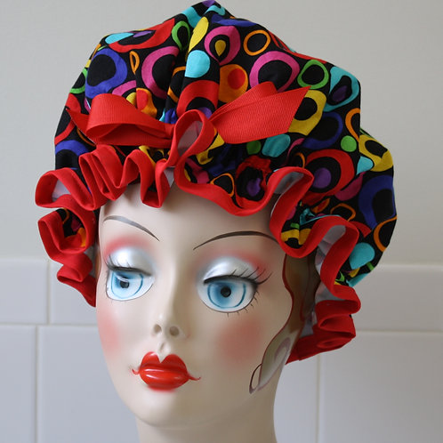 La Di Dot Shower Cap