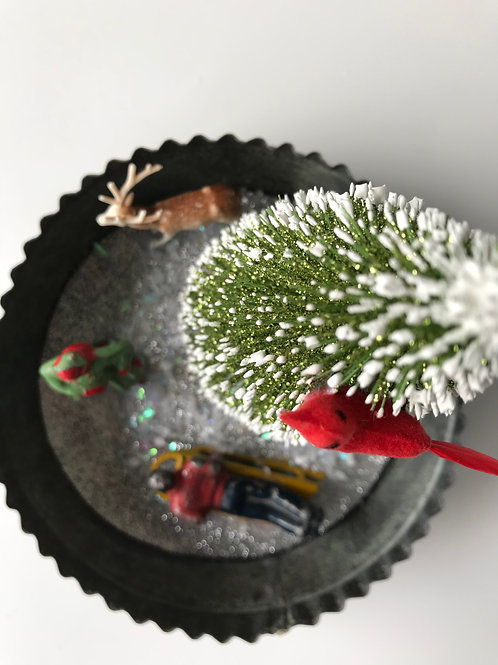 Vintage Ice Skater Christmas Decoration #2