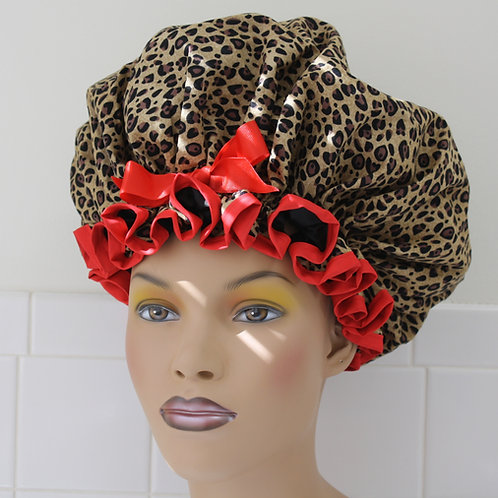 Animal Instinct Red XL Shower Cap