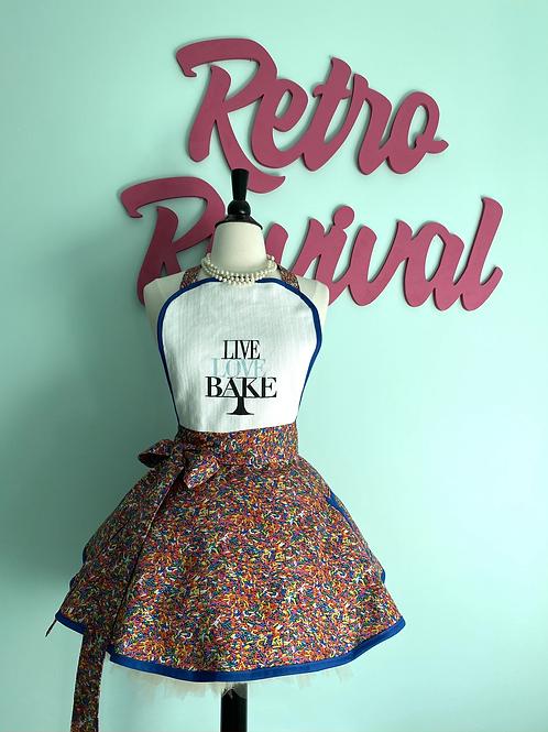 Sprinkles Circle Skirt Apron