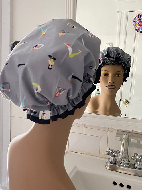 "Women's Shower Cap Ruffled ""Yoga"""
