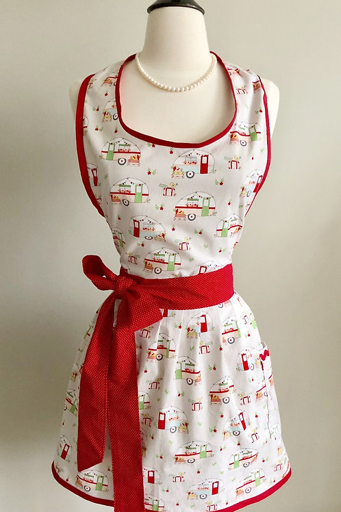 Vintage Campers Gray Apron