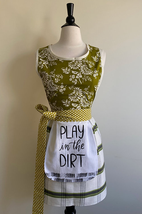 Play In the Dirt Dish Towel Retro Apron