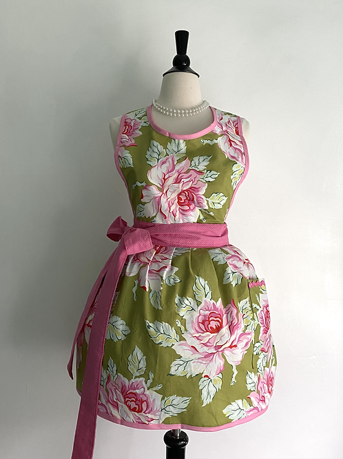 Glorious Peonies Retro Apron
