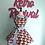 Thumbnail: Cherry Pie On Black Retro Circle Skirt Apron