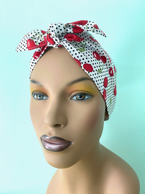 Big Cherries Waterproof Swim Head Wrap