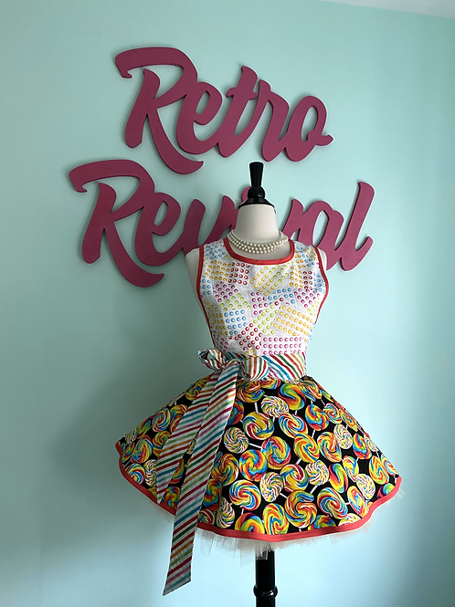 I Want Candy Circle Skirt Retro Apron