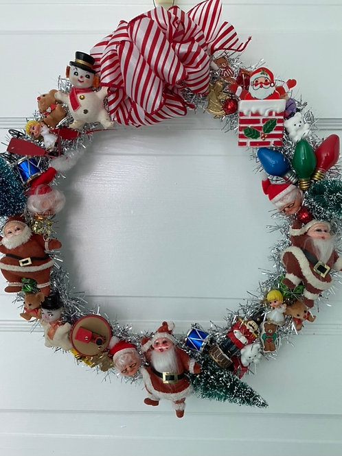 Vintage Kitsch Christmas Wreath #5