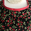 Thumbnail: Romantic Roses Red and Black Circle Skirt