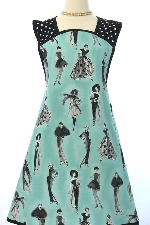 Retro Apron A-Line Vintage Fashion Aqua