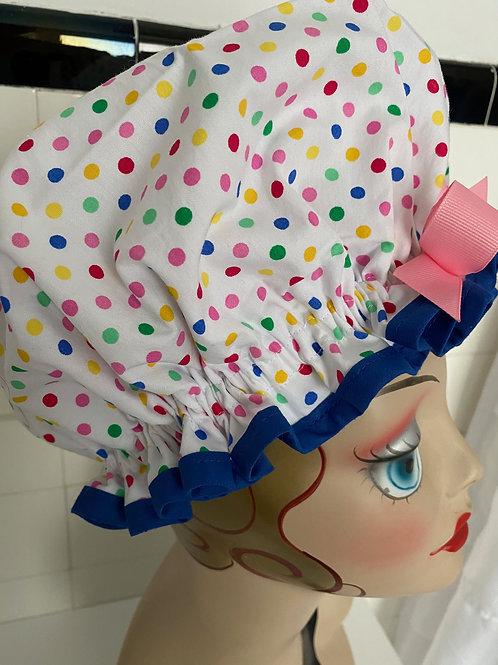 "Women's Shower Cap Ruffled ""Beach Bingo Multi"""