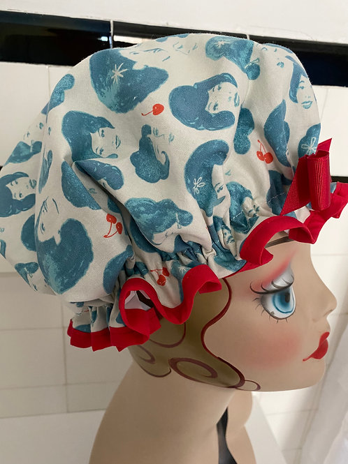 "Women's Shower Cap Ruffled ""Shower Divas"""