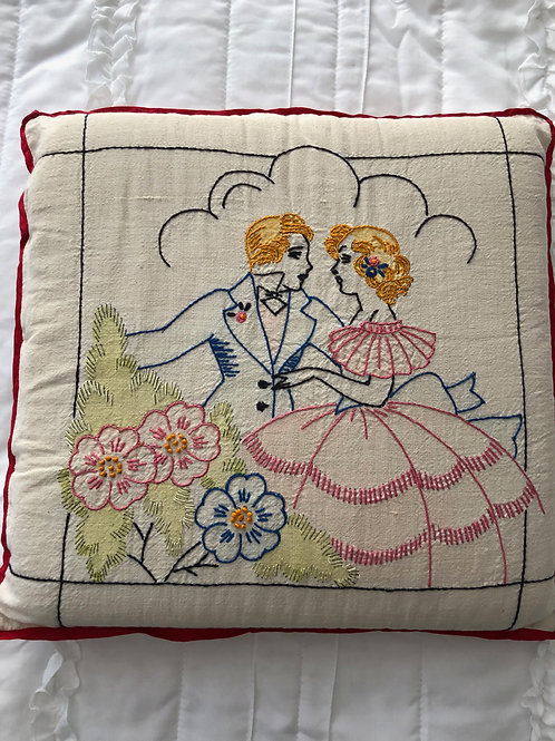 Vintage Sweethearts Pillow