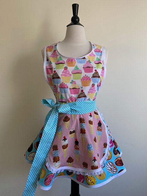 Sweet Treats Circle Skirt Retro Apron