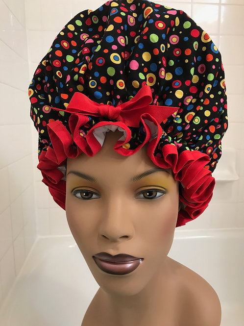 Natural Hair Shower Cap Mod Dots XL Shower Cap