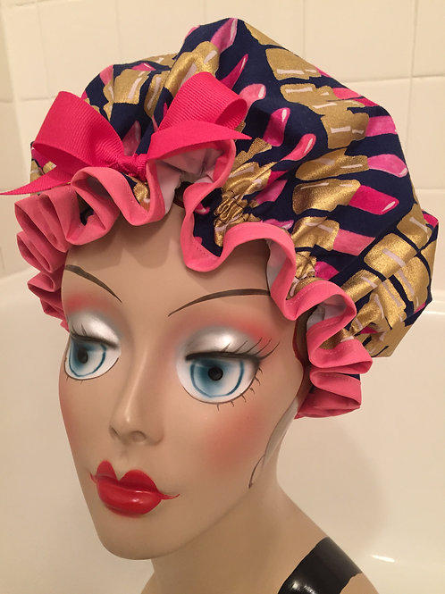 Women's Shower Cap Lipstick Shower Cap