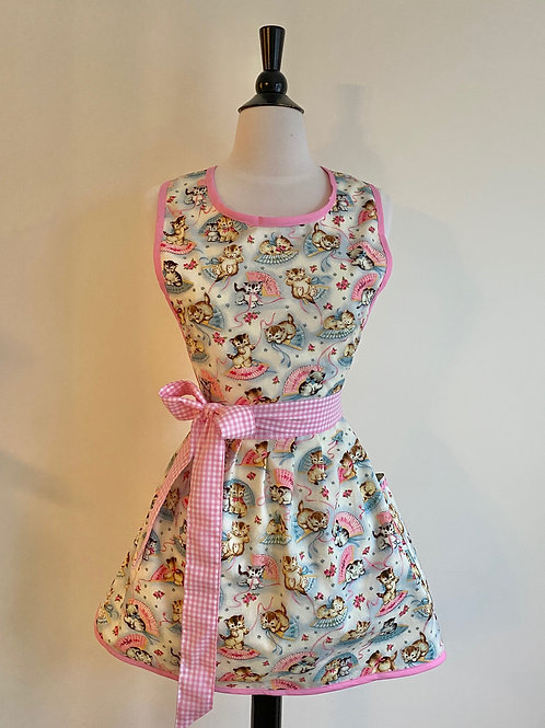 Fans and Kittens Retro Apron