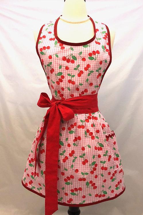 Cheery Cherry Retro Apron