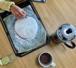 パン作り(模様付け)
